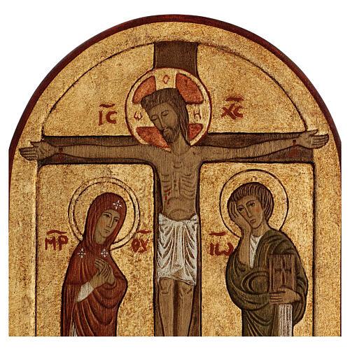 Bassorilievo Crocefissione dorato 4