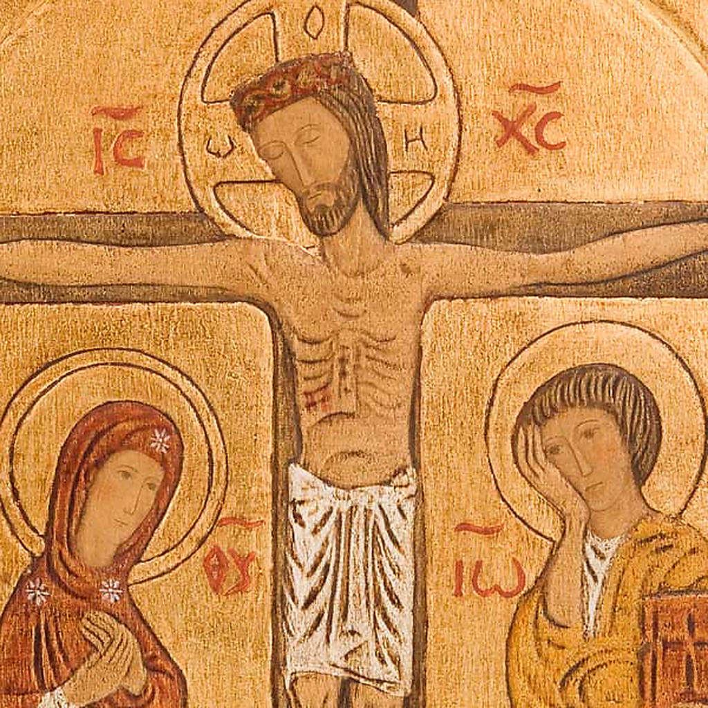 Crucifixion Golden Bassrelief 4