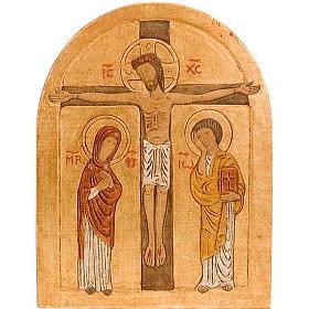Crucifixion Golden Bassrelief s1