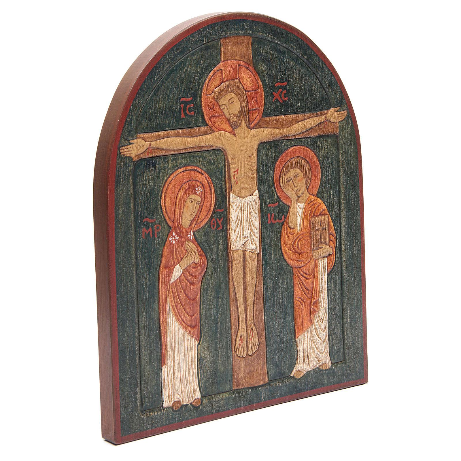 Bajorrelieve Crucifixión pintado 4