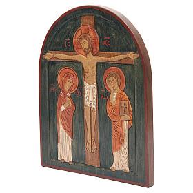 Bajorrelieve Crucifixión pintado s2