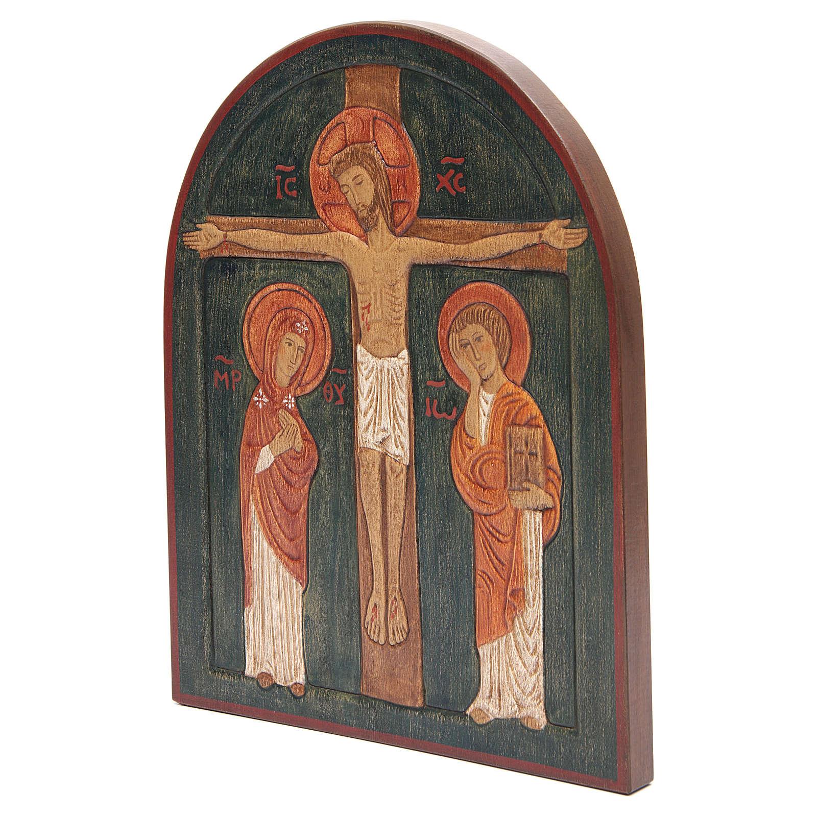 Bassorilievo Crocefissione dipinto 4