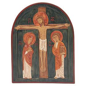 Bassorilievo Crocefissione dipinto s1