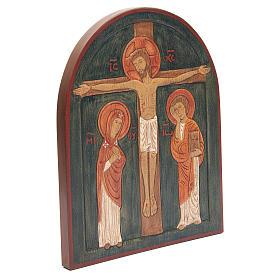Bassorilievo Crocefissione dipinto s3