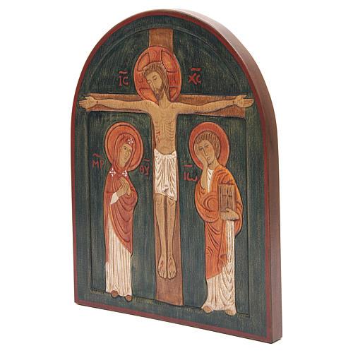 Bassorilievo Crocefissione dipinto 2