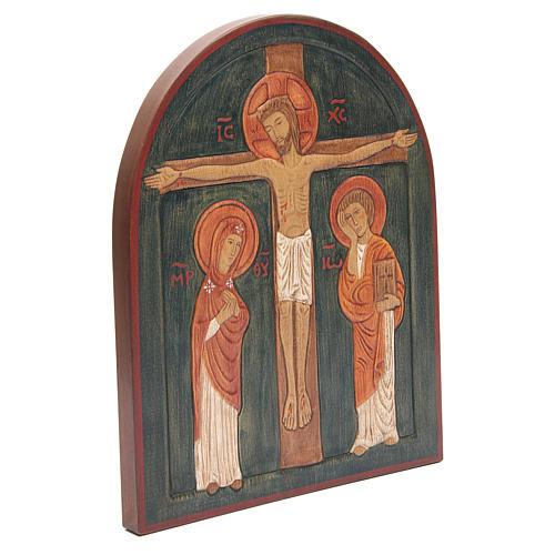Bassorilievo Crocefissione dipinto 3