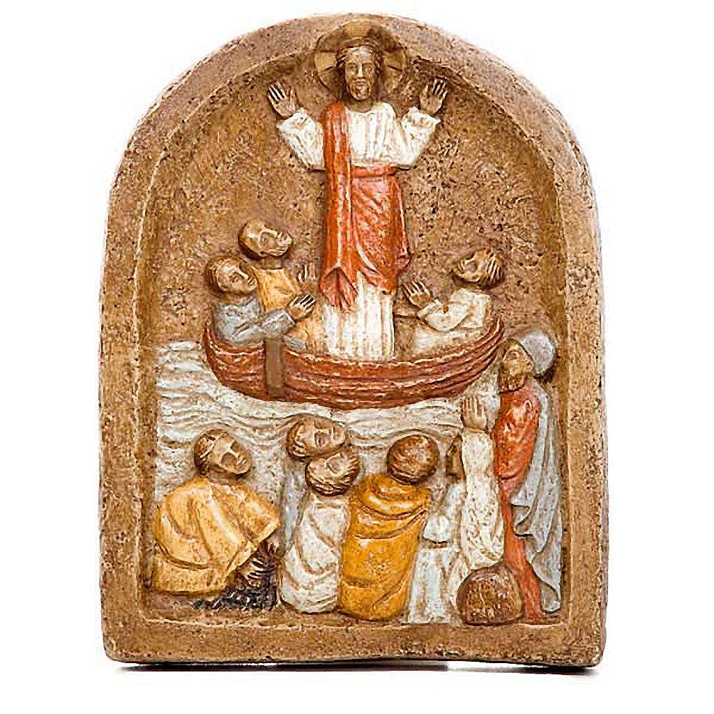 Flachrelief Predigt Jesu 4