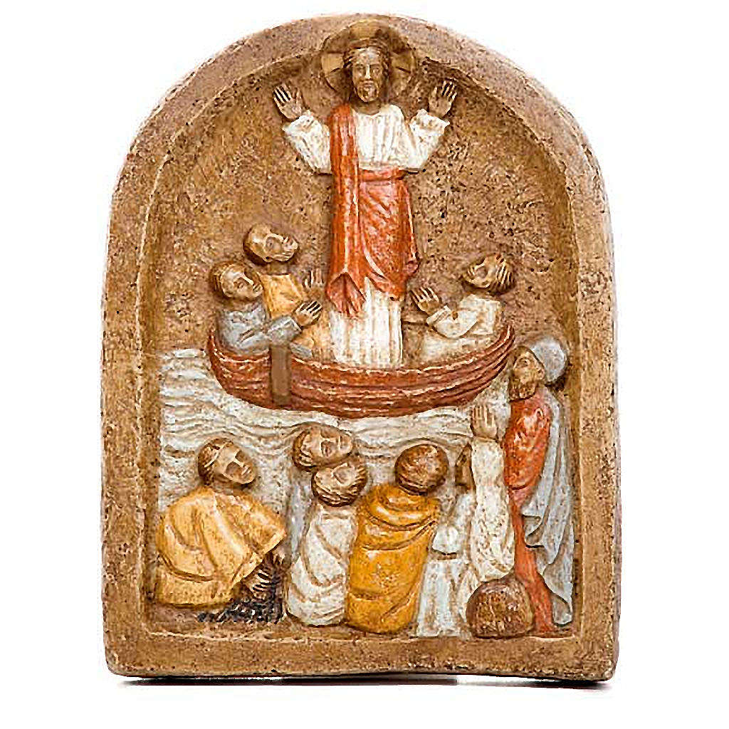Bassorilievo predicazione di Gesù 4