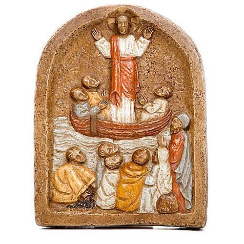 Bassorilievo predicazione di Gesù 1