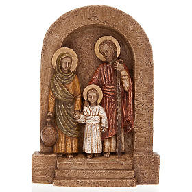 Bas-relief Sainte Famille, Marie en vert s1