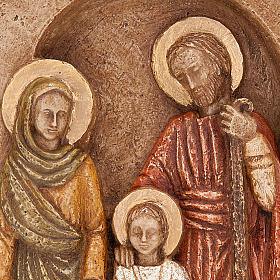 Bas-relief Sainte Famille, Marie en vert s4