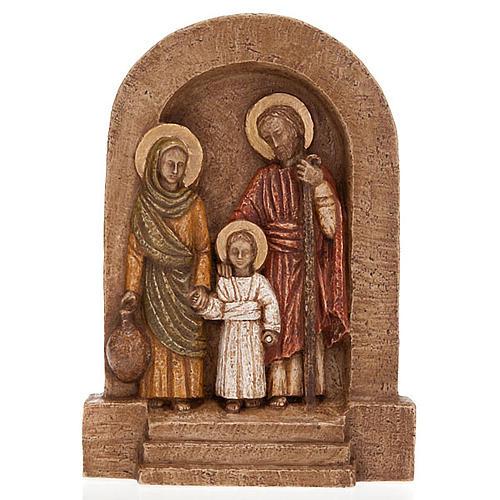 Bassorilievo Sacra Famiglia Maria in verde 1