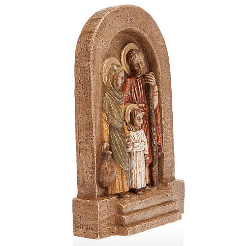 Bassorilievo Sacra Famiglia Maria in verde 2
