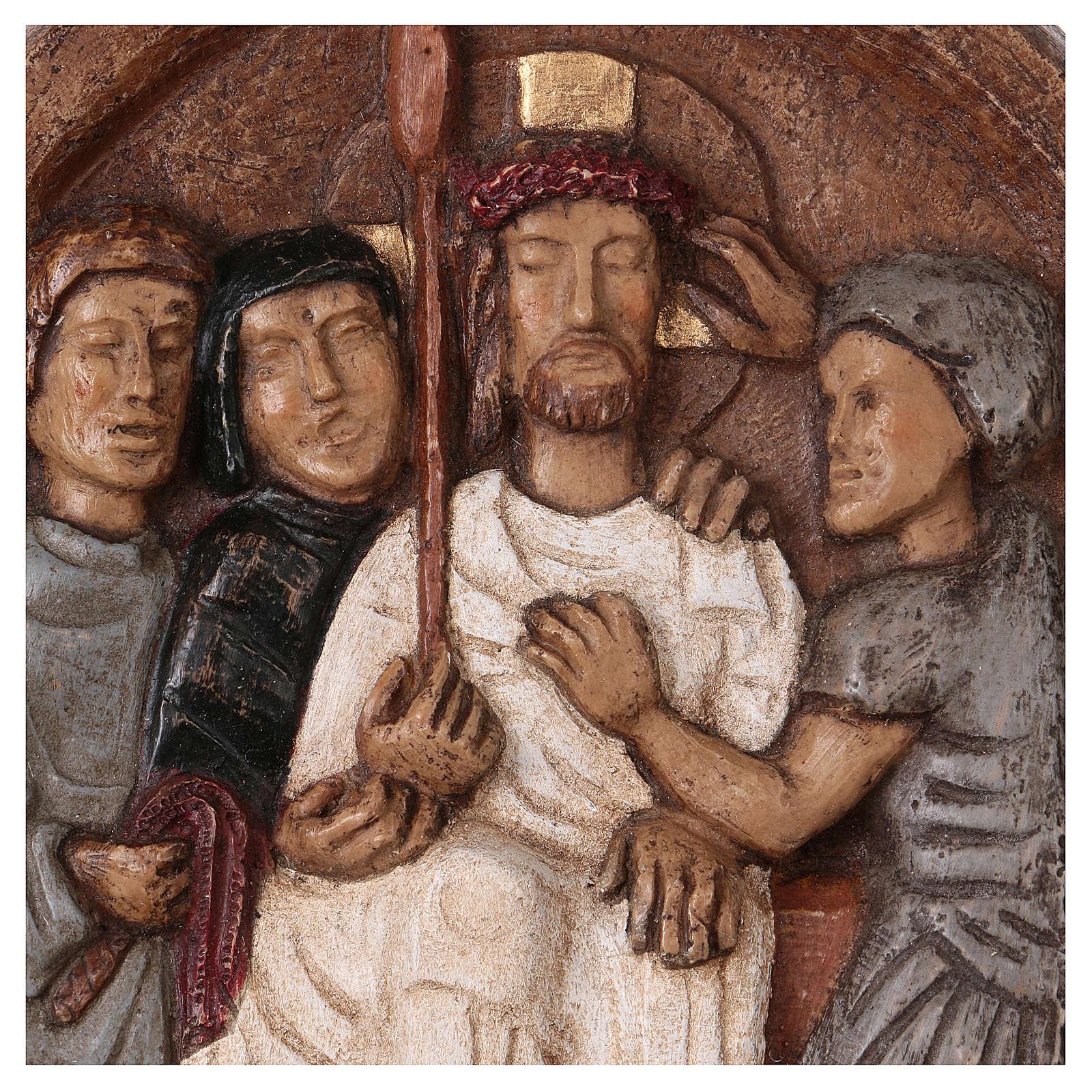 Baixo-relevo Imposição da coroa de espinhos 4
