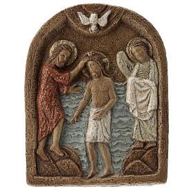 Bassorilievi pietra: Bassorilievo Battesimo di Gesù