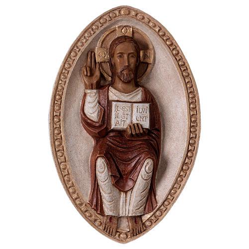 Bajorrelieve Jesús el Viviente vestido rojo 1