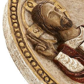 Bassorilievo Gesù il Vivente veste rossa s4
