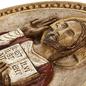 Bassorilievo Gesù il Vivente veste rossa s5