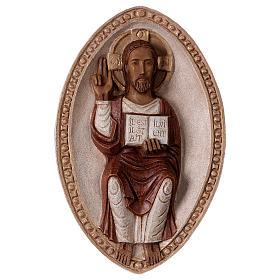 Bassorilievo Gesù il Vivente veste rossa s1