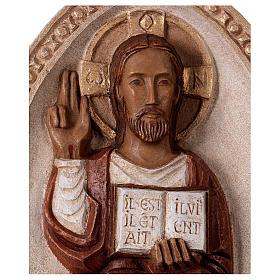 Bassorilievo Gesù il Vivente veste rossa s2