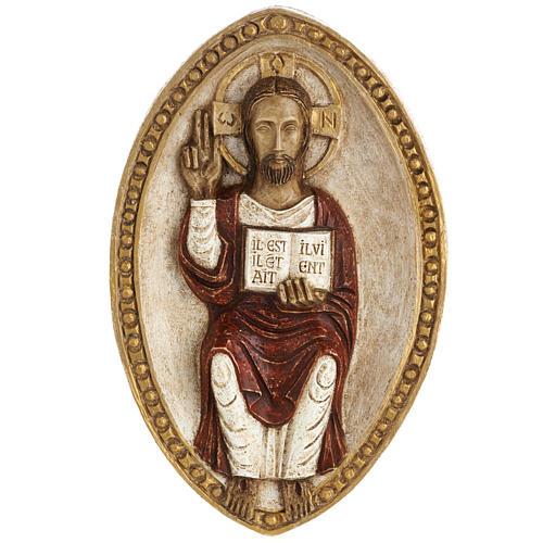 Bassorilievo Gesù il Vivente veste rossa 1