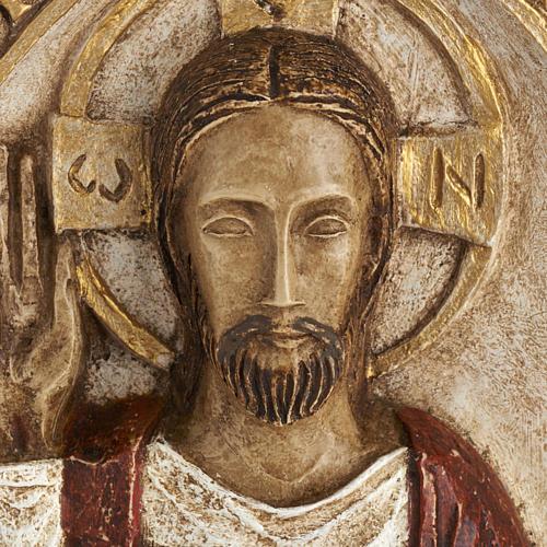 Bassorilievo Gesù il Vivente veste rossa 2