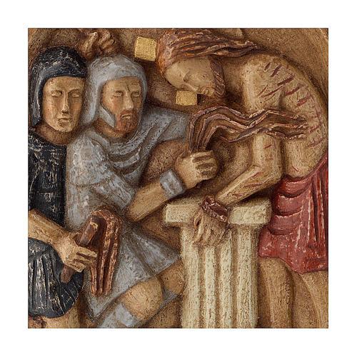Bajorrelieve Jesús y la columna piedra Belèn 22x17 cm 2