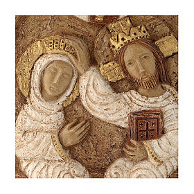 Bajorrelieve Coronación de María piedra Belèn 22x17 cm s2