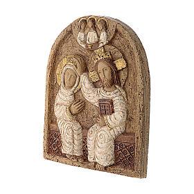 Bajorrelieve Coronación de María piedra Belèn 22x17 cm s3