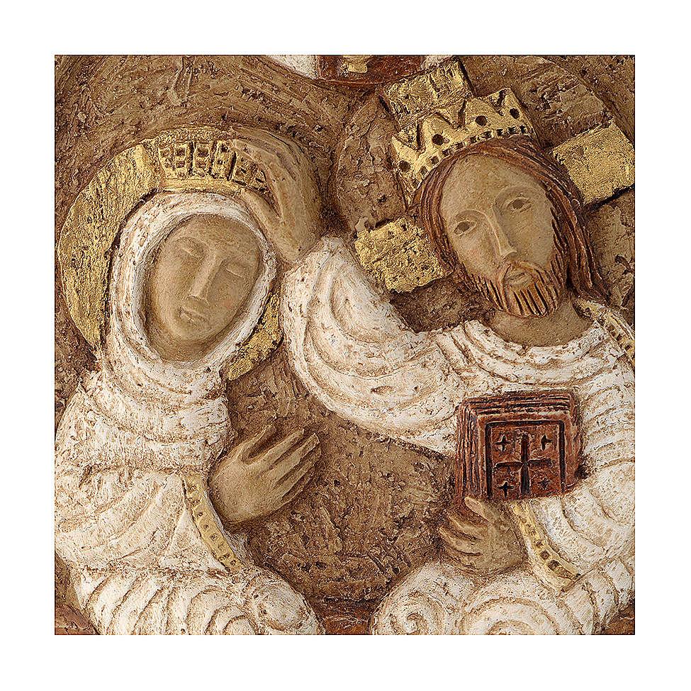 Bas-relief Couronnement de Marie pierre Bethléem 22x17 cm 4