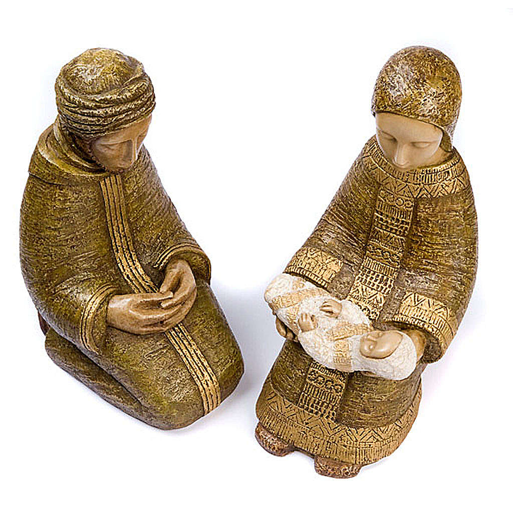 Large nativity set green 4