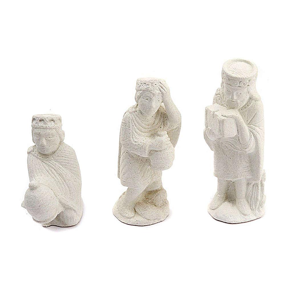 Presepe d'Autunno pietra bianca non dipinto completo 4