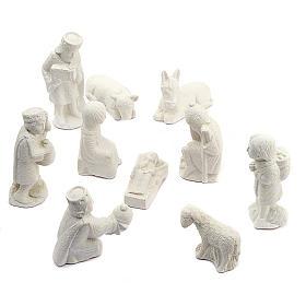 Presepe d'Autunno pietra bianca non dipinto completo s1