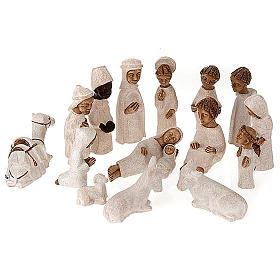 Presepe piccolo bianco Betlheem completo (Petite Crèche) s1