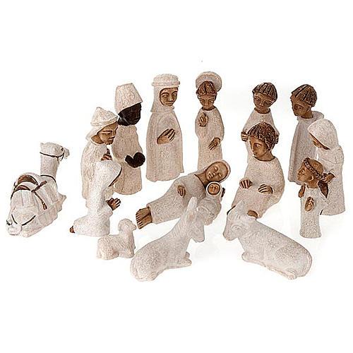 Presepe piccolo bianco Betlheem completo (Petite Crèche) 1