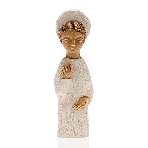 Krippenszene Engel mit Heiligenschein klein 1