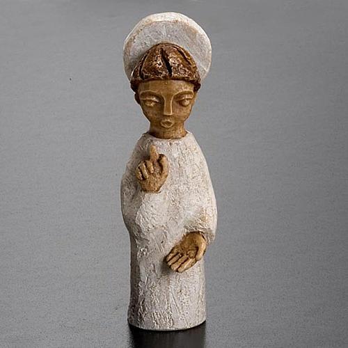 Krippenszene Engel mit Heiligenschein klein 2