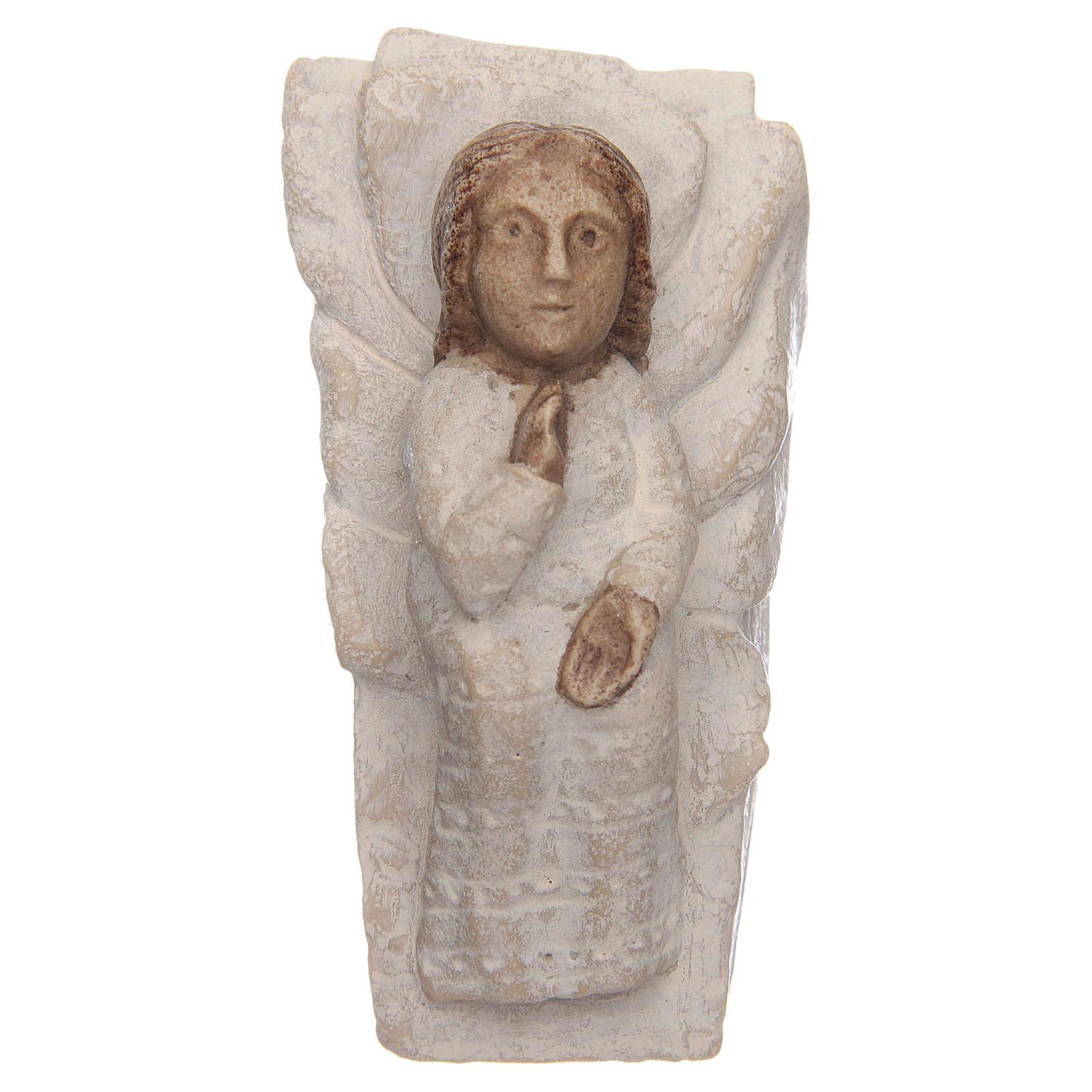 Gesù Bambino pietra Presepe d'autunno bianco dipinto 4