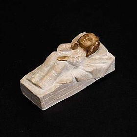 Gesù Bambino pietra Presepe d'autunno bianco dipinto s3