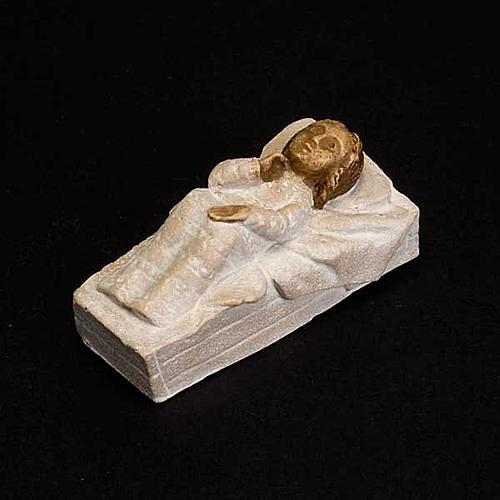 Gesù Bambino pietra Presepe d'autunno bianco dipinto 3