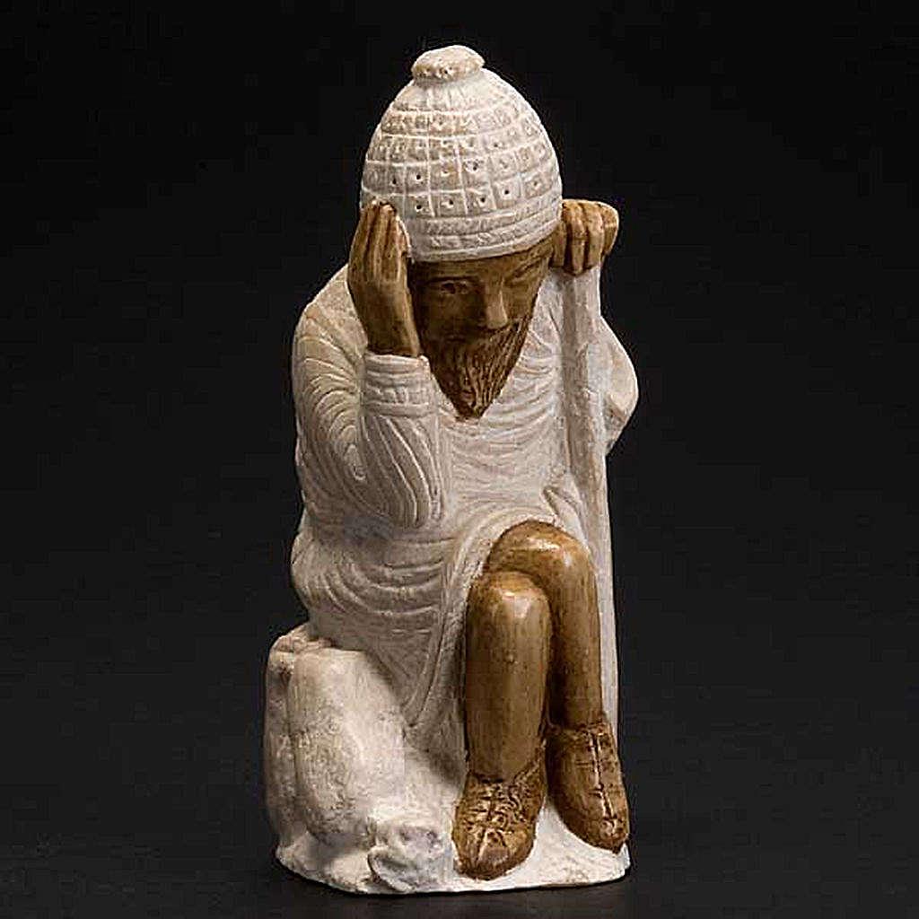 San Giuseppe presepe d'Autunno bianco dipinto 4