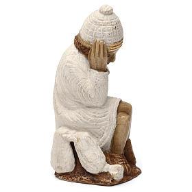 San Giuseppe presepe d'Autunno bianco dipinto s4