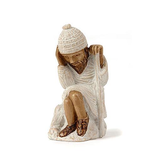 San Giuseppe presepe d'Autunno bianco dipinto 1