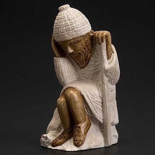 San Giuseppe presepe d'Autunno bianco dipinto 3