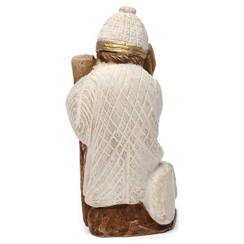 San Giuseppe presepe d'Autunno bianco dipinto 5