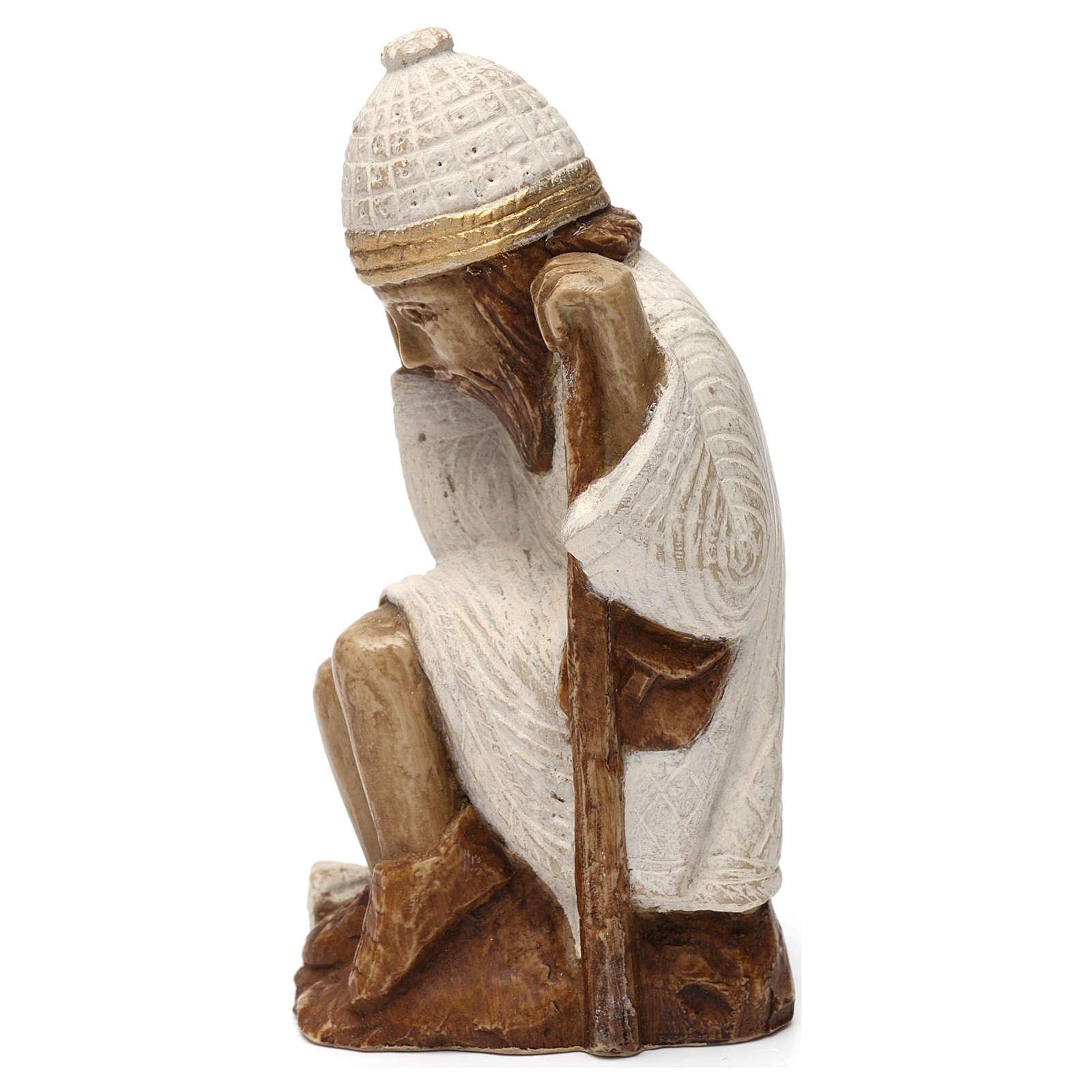Święty Józef Szopka z Autun kamień biały malowany 4