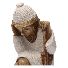 Święty Józef Szopka z Autun kamień biały malowany s2