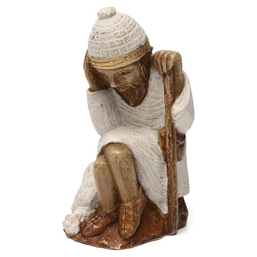 Święty Józef Szopka z Autun kamień biały malowany 1