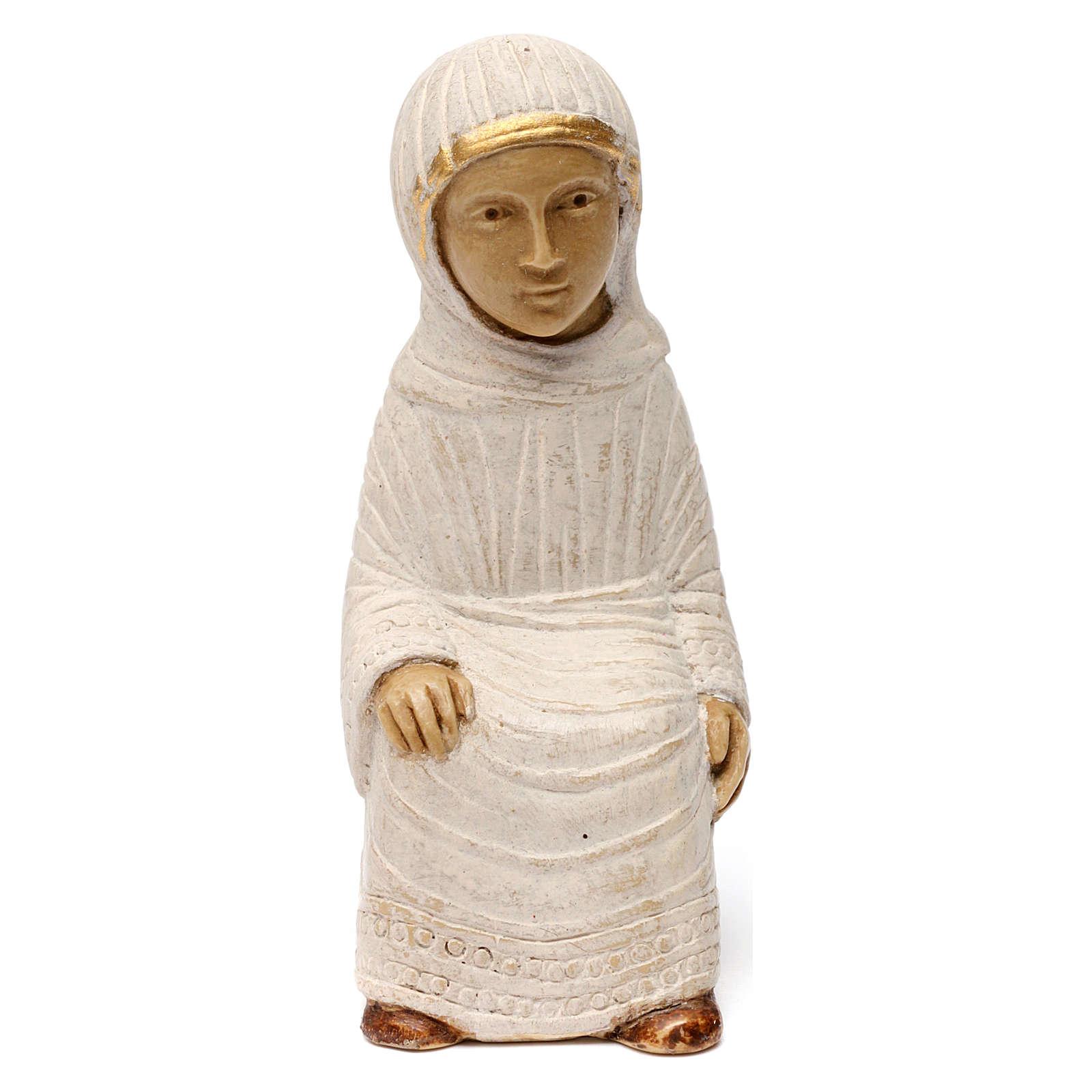 Marie Crèche d'Automne peinte blanche 4