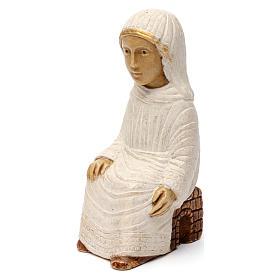 Maria Presepe d'Autunno bianco dipinto s2